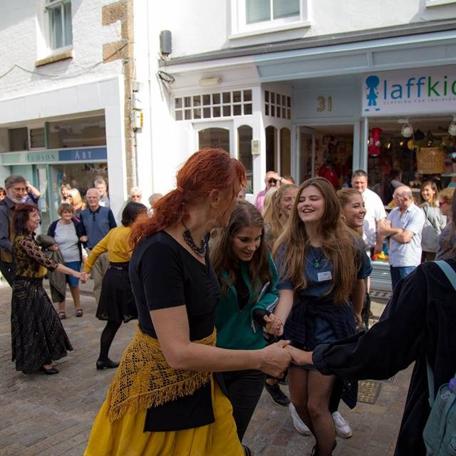 Dancing in the street at St Ives