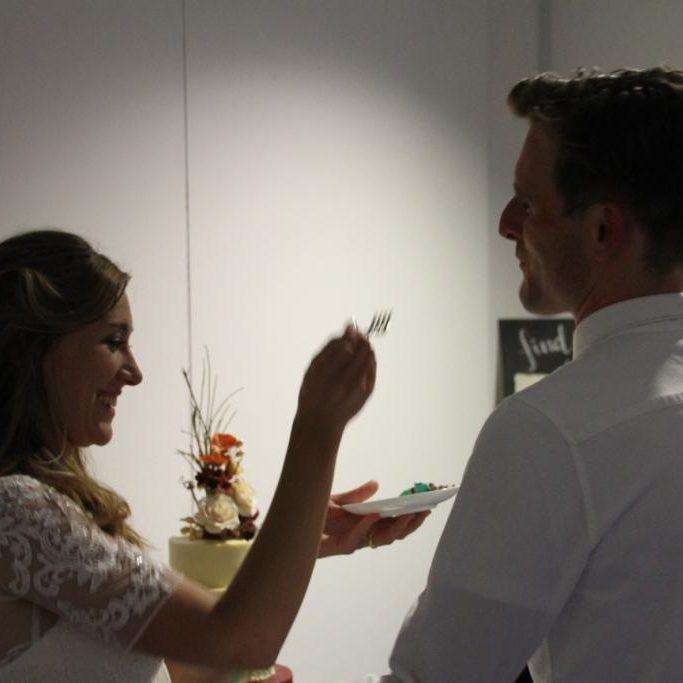 Wedding Ceilidh, happy couple